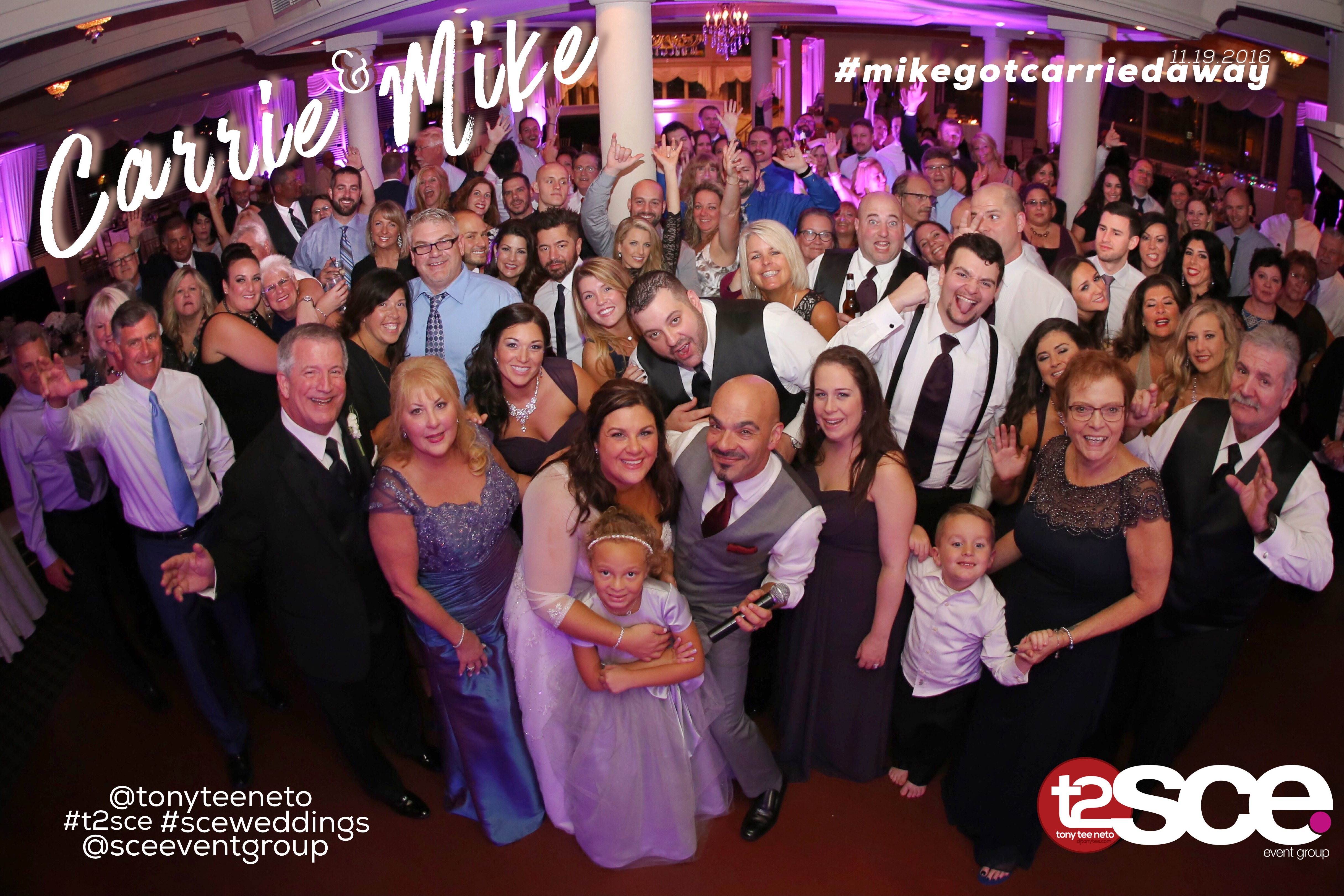 Carrie & Mike: Tony Tee Neto & SCE Event Group at The Stateroom, LBI, NJ (11/19/2016)